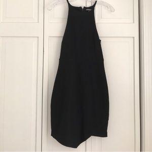 Express Black Bodycon Dress Asymmetrical Hem